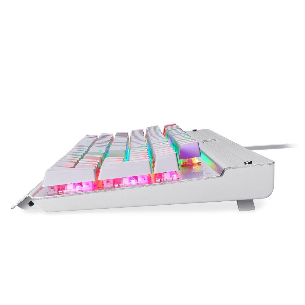 EagleTec KG011-RGB Mechanical Gaming Keyboard With LED Backlit 104 Key (White)
