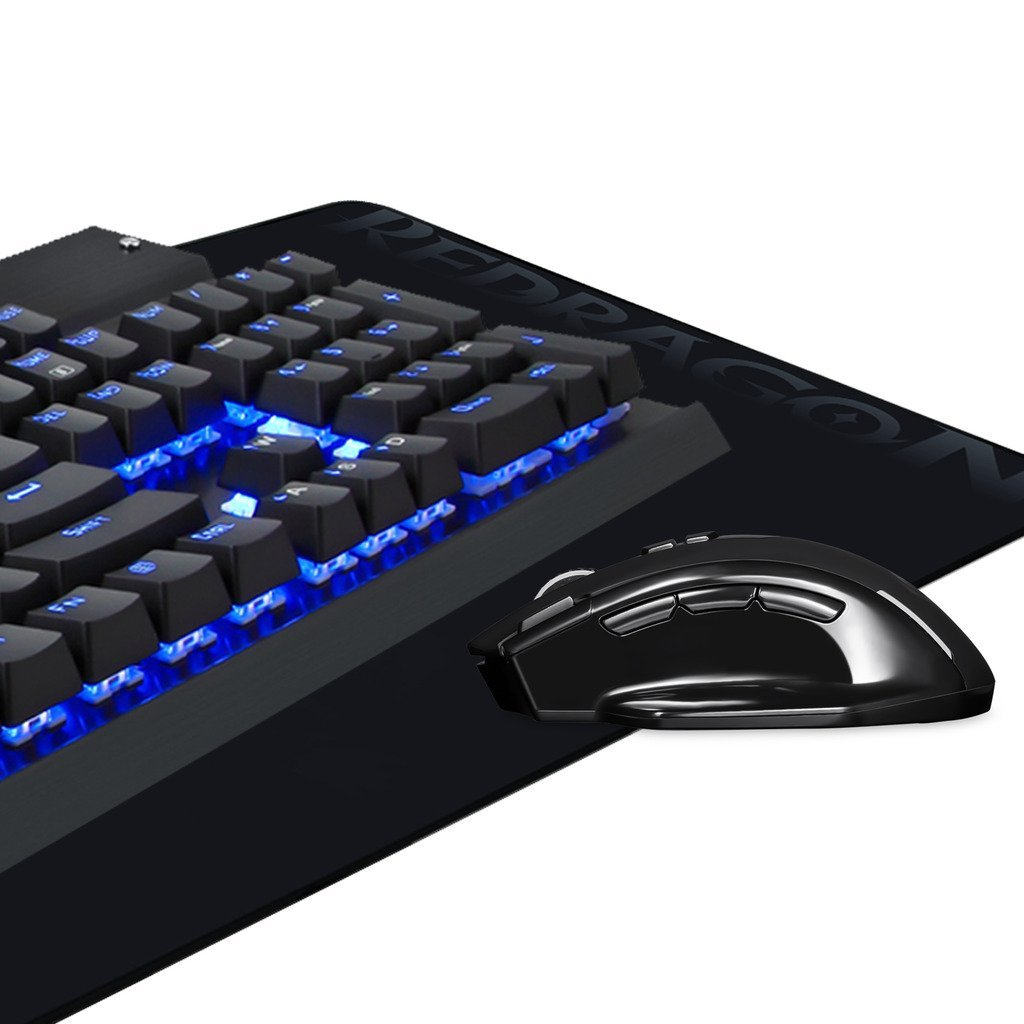 EagleTec Gaming Mechanical Keyboard, Wireless Gaming Mouse, Gaming Mouse Pad, Combo KG010-BA, LED backlit Keyboard, Backlit Wireless Mouse, Large Mouse Pad, Value Combo Set