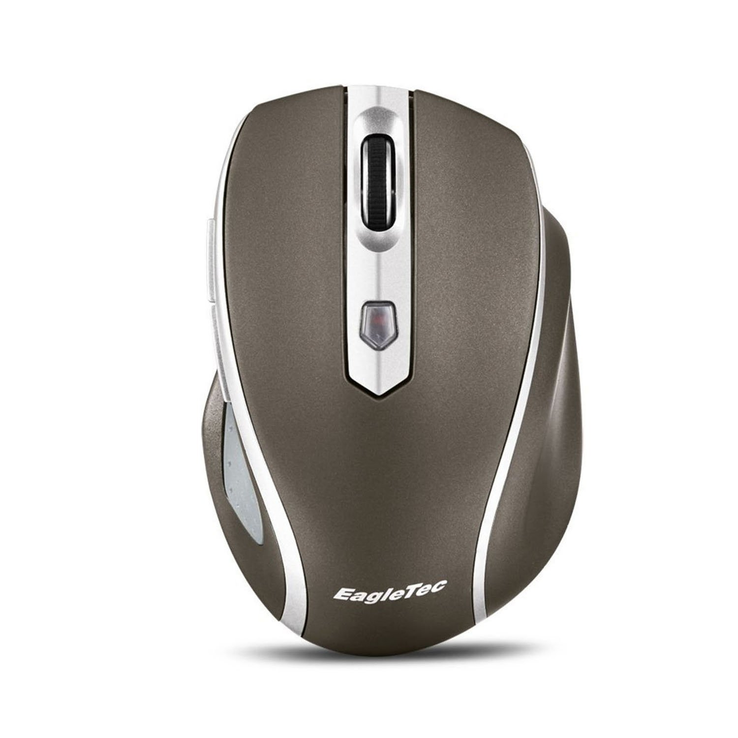 EagleTec MR5M2509 2.4GHz Wireless Optical Mouse, Switchable DPI 1000/1500/2000,5 Buttons, 2 Programming Keys with Nano USB Receiver (Gold Color) (2509-CG)
