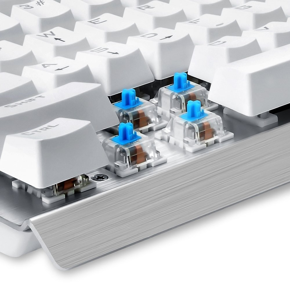EagleTec KG011-R Gaming / Industrial Rainbow LED Backlit Mechanical Keyboard (White)