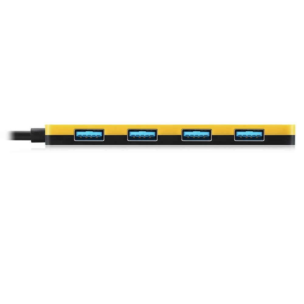 EagleTec B062 4 Port USB 3.0 Hub (Yellow)